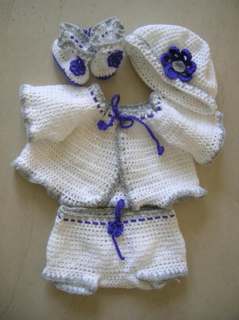 Modele Crochet Gratuit Layette 4