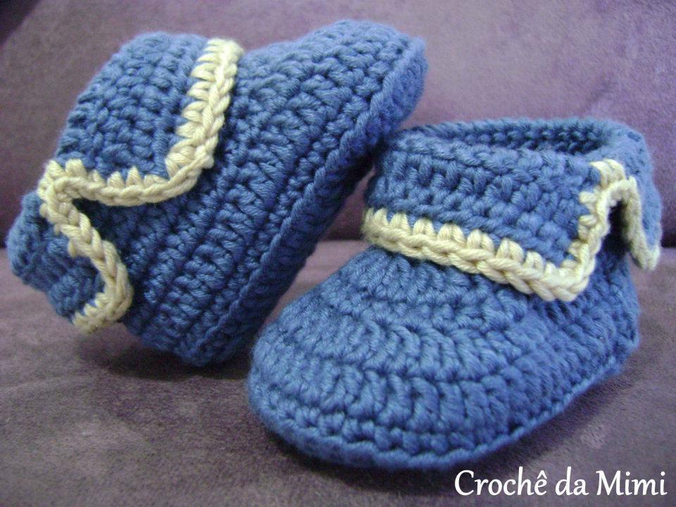 chausson crochet modele