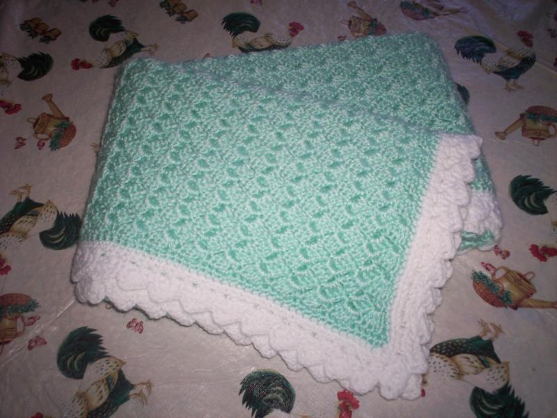 Patron crochet couverture bebe 3 - Carre crochet pour couverture bebe ...