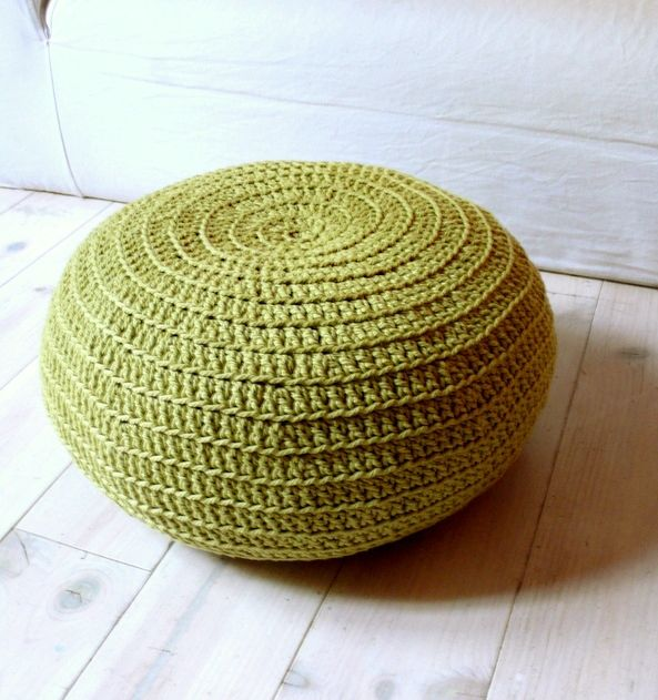 Patron puff crochet xxl 9 - Puffs de trapillo ...
