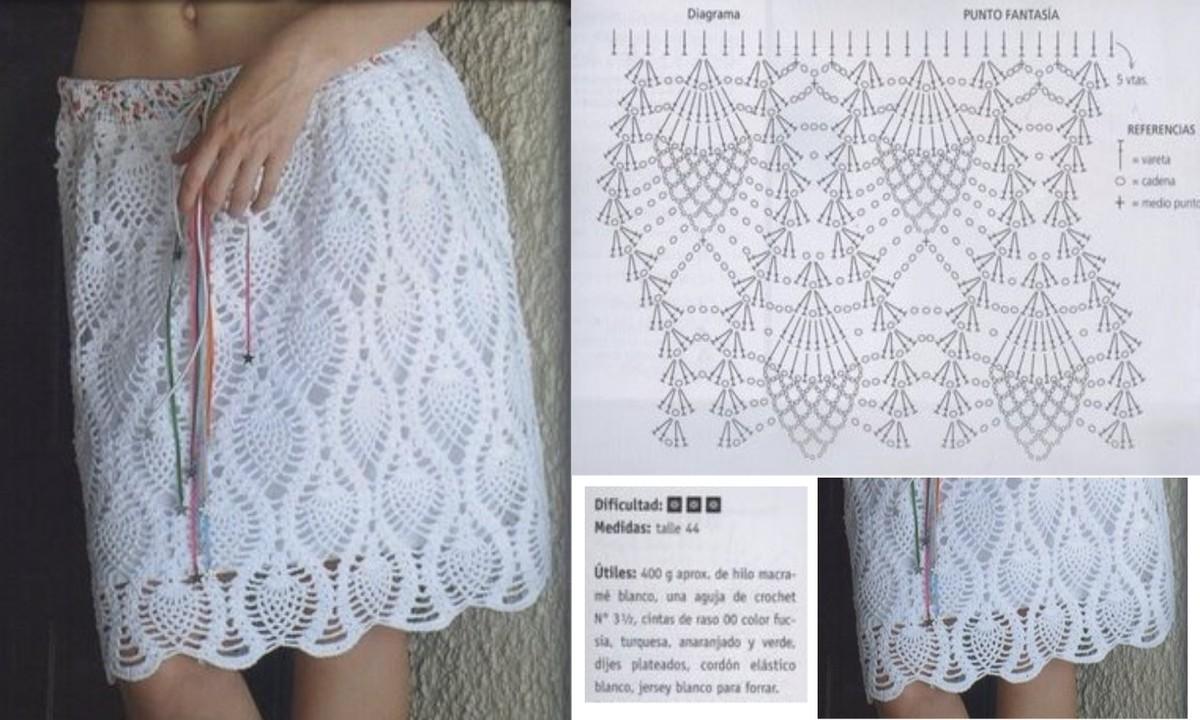 modele crochet jupe 3. Black Bedroom Furniture Sets. Home Design Ideas