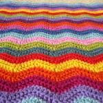 patron couverture crochet zigzag