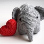 patron d'elephant au crochet