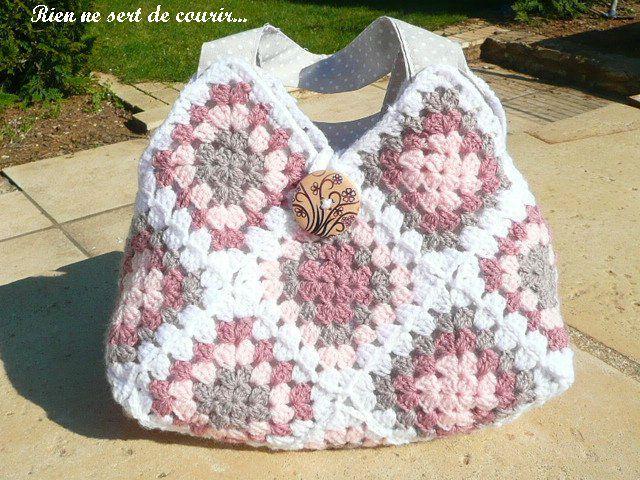Des Sacs En Crochet : Grille crochet sac