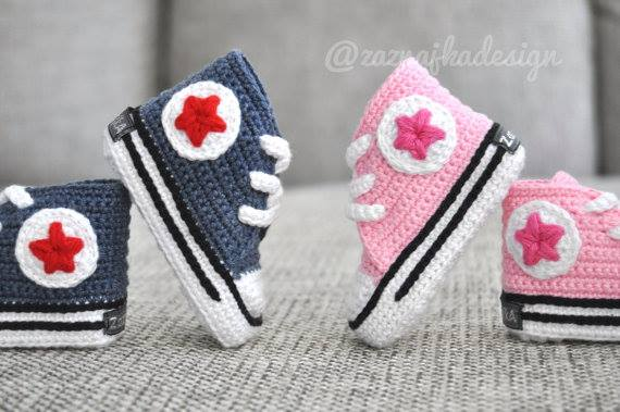 tuto crochet converse bebe