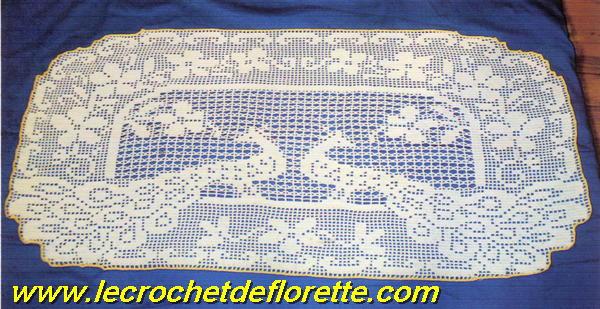 Grille crochet napperon gratuit 11 - Napperon crochet grille gratuite ...