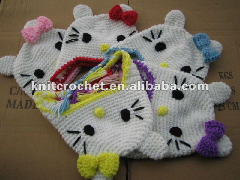 Modele crochet bonnet hello kitty - Modele hello kitty ...
