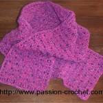 modele crochet echarpe
