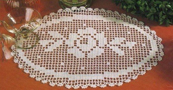 Modele crochet filet gratuit 8 - Napperon crochet grille gratuite ...