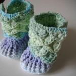 patron crochet pantoufle crocodile