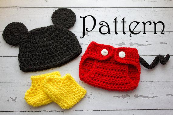 patron crochet mickey