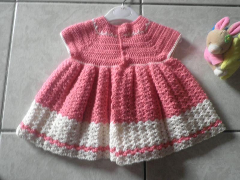 Tuto Crochet Robe Bebe 6