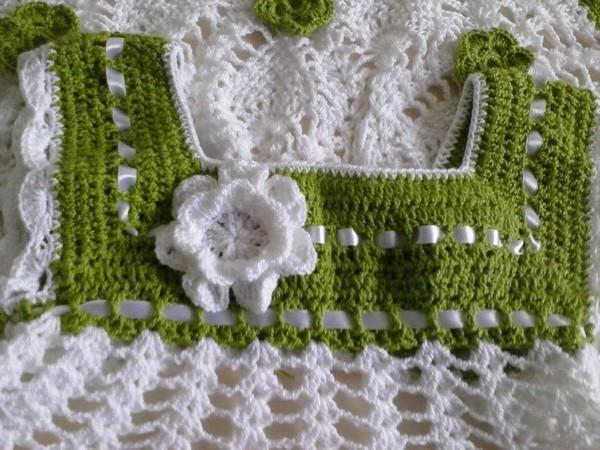 Grille crochet robe bebe 5 - Robe bebe en crochet avec grille ...