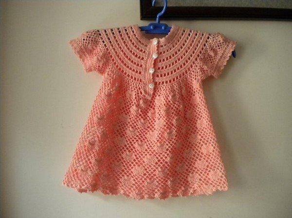 Grille crochet robe bebe 8 - Robe bebe en crochet avec grille ...