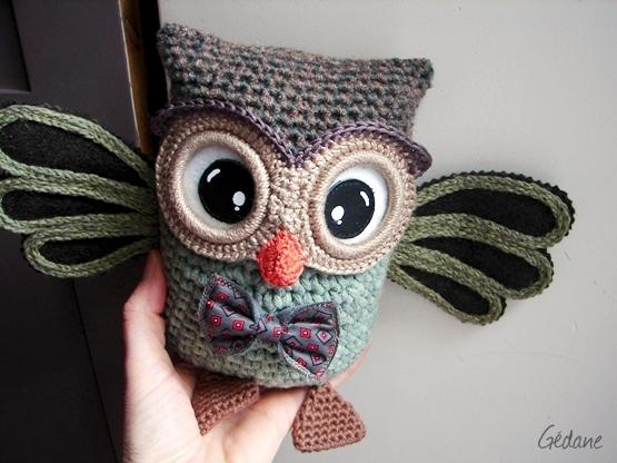 modele crochet hibou