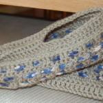 patron crochet pantoufle