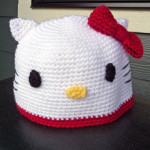 tuto bonnet crochet hello kitty