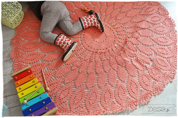 Tuto crochet tapis 1 - Modele tapis crochet gratuit ...