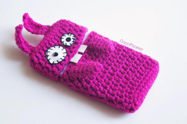modele crochet housse telephone